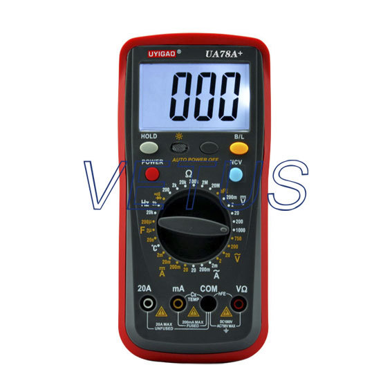 High quality LCD Digital Display AC DC Ohm Capacitance Meter Multimeter UA78A+<br><br>Aliexpress