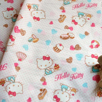 100 140cm sweetheart cake hellokitty cotton fabric for Children s cotton dress fabric