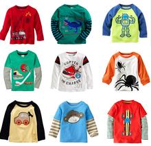 1-6 years Boys T-shirt Kids Tees Baby Boy brand t shirts Children tees Long Sleeve 100% Cotton cardigan sweater jacket shirts(China (Mainland))