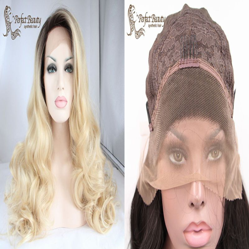 Ombre Synthetic Lace Front Wig Glueless Best Quality Dark to Blonde Hair Heat Resistant Long Blonde Hair 613 Ombre Lace Wig<br><br>Aliexpress