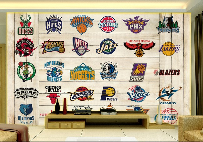 Achetez en gros quipes de la nba de basket ball en ligne for Basketball mural wallpaper