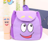 2014 New style dora the explore with map child baby cartoon plush backpack school bag kid's school cartoon bags