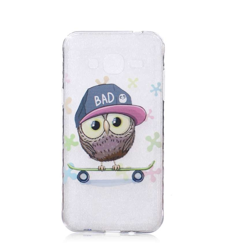 Bear Sexy Eyes Umbrella Owl Tree Flower Butterfly Pattern TPU Back Cover Protection Phone Case For Samsung Galaxy J3