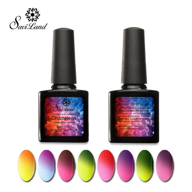 Saviland 1 шт. 10 мл термальной цветов менять хамелеон гель-лак уф-лак-гель температура ...