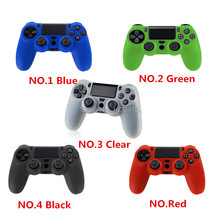 IVY QUEEN NEW 1 PCS 5 Colors Soft Silicone Rubber Skin Case Cover For Sony PlayStation Dualshock 4 PS4 Controllers Gamepad