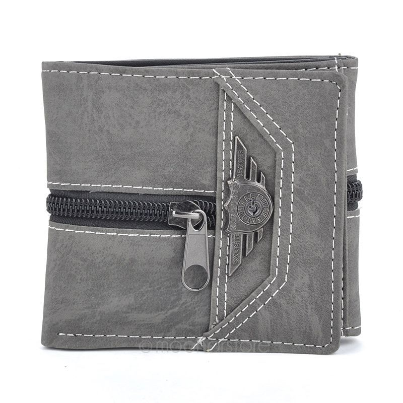 2015 Classic Durable Fashion Casual Retro Manmade Canvas men wallet short wallet Hot sale 3 colors