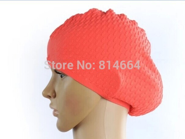 Free shipping 2014hot sellingWater droplets cap bubble cap anti-slip granules super comfortable waterproof silicone swimming cap<br><br>Aliexpress