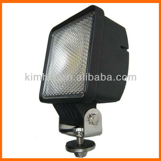 "Free Shipping 30W 2600LM 10-30V 4"" Die-cast ALU square shape water proof 2012 new LED working lamp30W LED truck light"