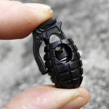 Fashion 10 Pcs Black Grenade Shoe lace Buckles Stopper Rope Clamp Paracord Cord Shoelace Spring Locks shoes accessories (China (Mainland))