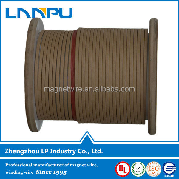 LP Manufacturer Magnet Wire Price Flat /Round Paper Covered Aluminum Wire for Oil-Immersed Transformer Windings(China (Mainland))