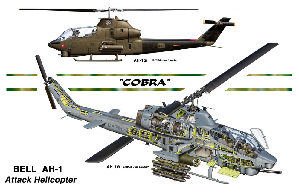 Bell AH-1 Attack Helicopter Cobra Map Classic Vintage Retro Kraft Decorative Poster Maps Home Bar Posters Decr Wall Sticker(China (Mainland))