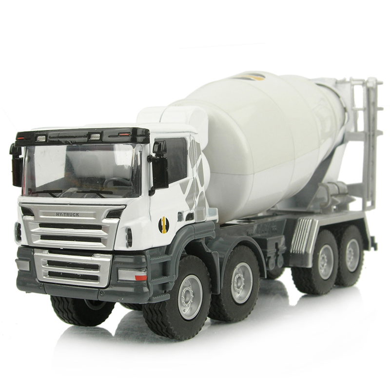 Hot diecast truck 1:50 Alloy engineering car transporter toy tanker cement mixer truck model toys metal cars free shipping(China (Mainland))