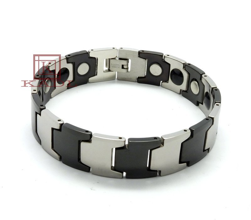 15 cm Width Tungsten Bracelets Polish Magnetic Link Unisex Italian Bracelets For Couple Jewelry coral color wedding decorations(China (Mainland))