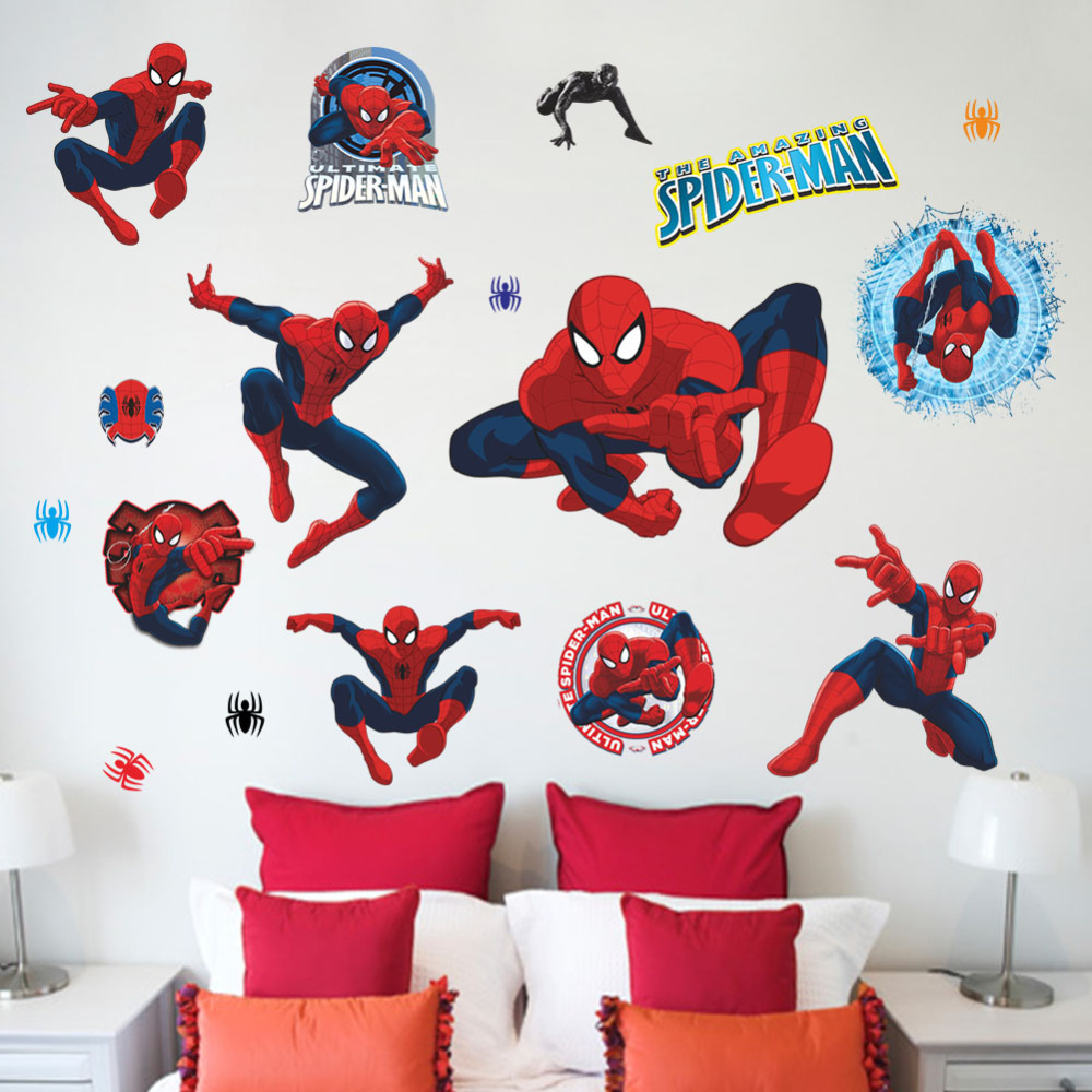 D coration maison spiderman for Decoration chambre spiderman