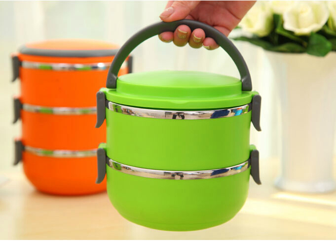 buy 1505 two layers thermal bento lunch box thermos for food stainless steel. Black Bedroom Furniture Sets. Home Design Ideas