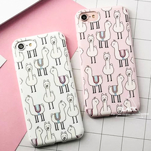 Buy Fashion Cute Cartoon Alpaca Case For iphone 7 Case For iphone7 6 6S Plus Cover Luxury Soft TPU Phone Cases Funny Animal Capa HOT for $1.99 in AliExpress store