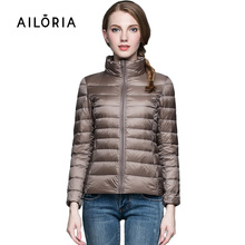 2015 Top Quality Brand Ladies Short Winter Autumn Overcoat Women Ultra Light 90% White Duck Down Coat With Bag ladies' Jackets(China (Mainland))