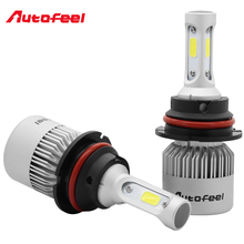 Buy Autofeel 9004 HB1 COB Chip Led Headlight Bulbs Kit 12V 72W/Kit 8000LM Auto Fog Light Lamp 6500K White light Hi/Lo Beams Headlamp for $22.51 in AliExpress store