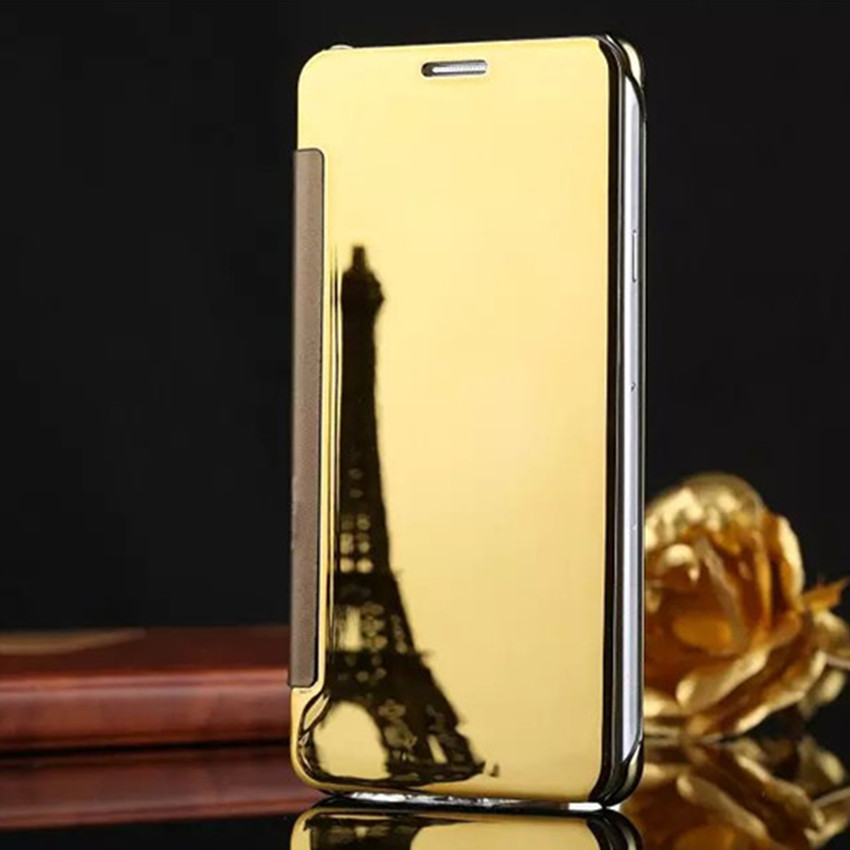 Luxury View Window Flip phone cover case For Samsung GALAXY A7 2016 A7100 Clean Mirror Hard PC Plastic PU Leather phone shell(China (Mainland))