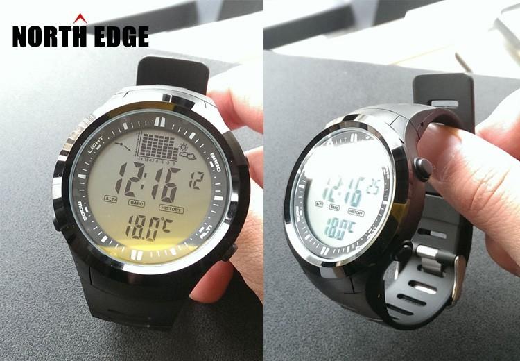 Горячая!!! рыбалка Барометр Альтиметр Термометр Высота Мужчины Цифровые Часы Спортивные Часы Восхождение Наручные Часы Montre Homme