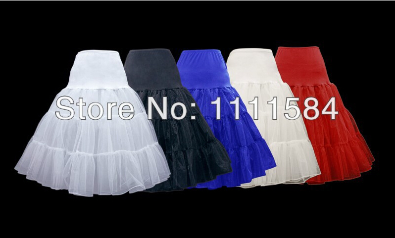 free shipping 50's Swing Rockabilly Petticoat 3 layer net skirt 26 inch length UK 8 - 24 White winter skirts(China (Mainland))