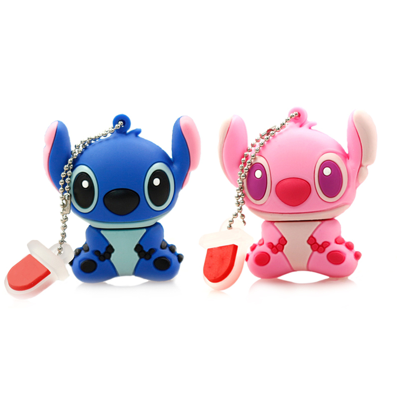 cartoon usb flash drive 4G 8G 16G 32G 64G stitch pendrive girls gift male pen drive flash card flash memory stick Free shipping(China (Mainland))