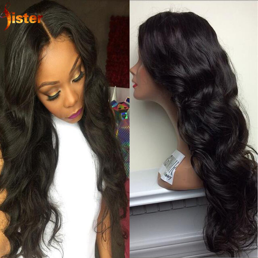 Virgin Brazilian Full Lace Front Wigs With Baby Hair Glueless Full Lace Human Hair Body Wave Wig For Black Women Lace Front Wig<br><br>Aliexpress