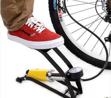 Macrobinocular monocular inbike high-pressure foot pump car vaporised portable pump electric bicycle pump(China (Mainland))