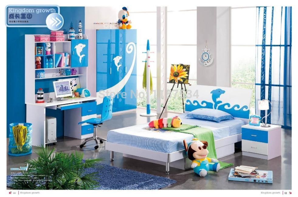 102 Modern Style Children Bedroom Set Furniture Wooden Bedroom Furniture In Wood Furniture Sets