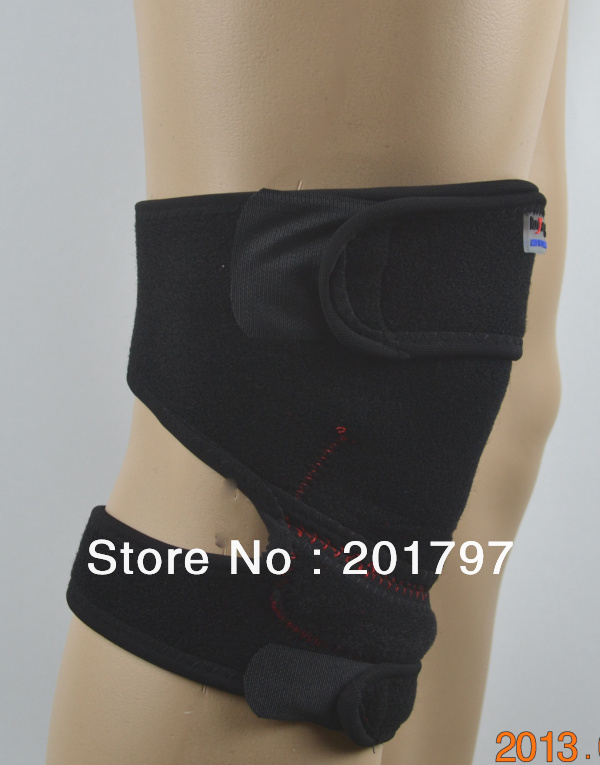 Free Shipping HOT Selling 4pieces/lot Magic Neoprene Knee Support With Spring Adjustable Knee Brace Knee Protector(China (Mainland))