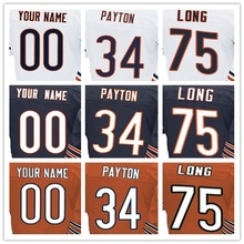 yingyuanFang 100% Stitched Men's #6 Jay #17 Alshon #23 Kyle #34 Walter #75 Kyle Elite Navy Blue Orange White Jersey(China (Mainland))