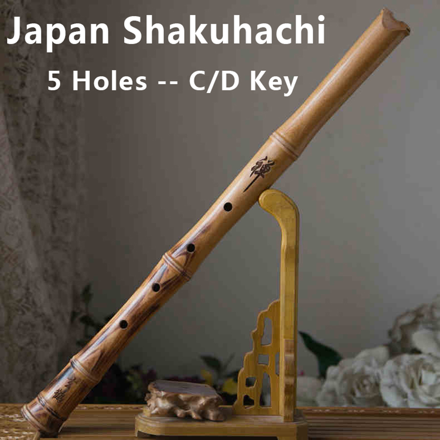 Traditional Japanese Flute Shakuhachi Wooden Wind Musical Instruments 5 Holes Japan Music Flauta C/D Key with Accessorries(China (Mainland))