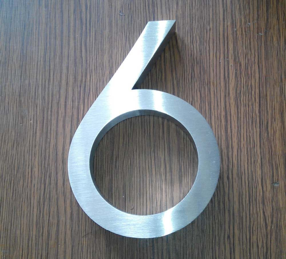 3D Sign Letter stainless steel house / Street Number (custom)H15CM number0