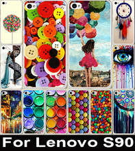 Clothes Buttons Balloon Sketchpad Chocolate Pattern Painting Case Colored Drawing Hard Plastic For Lenovo S90 Cell Phone Cover