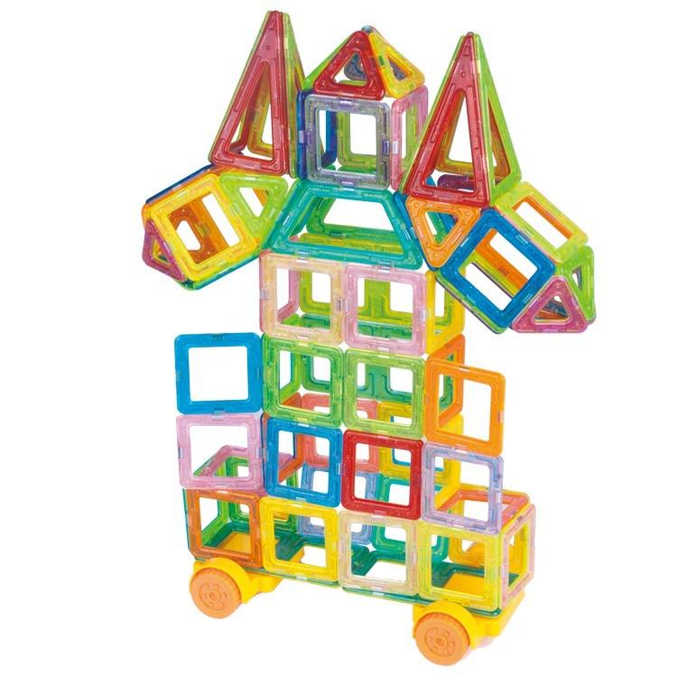108PCS Mini Magnetic Designer Construction Toy Kids Educational Toys Plastic Creative Bricks Enlighten Magnetic Building Blocks(China (Mainland))