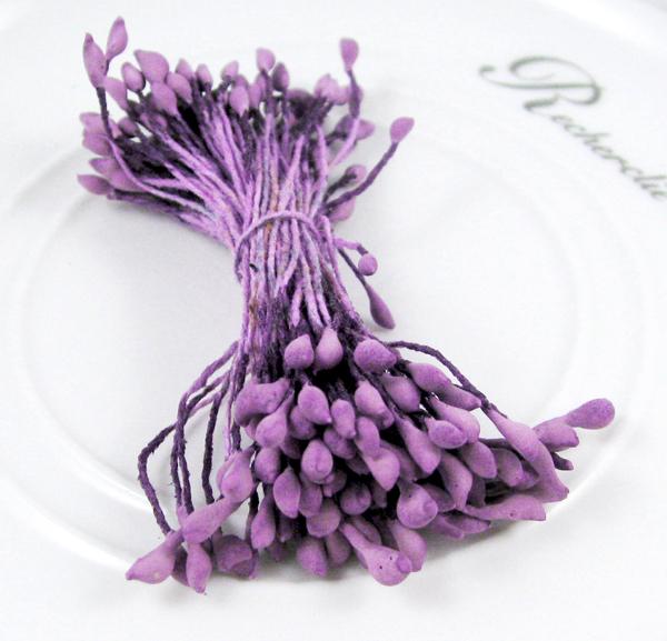 288pcs 3mm Matte Purple double heads flower stamen pistil cake decoration craft 11060312(288)(China (Mainland))