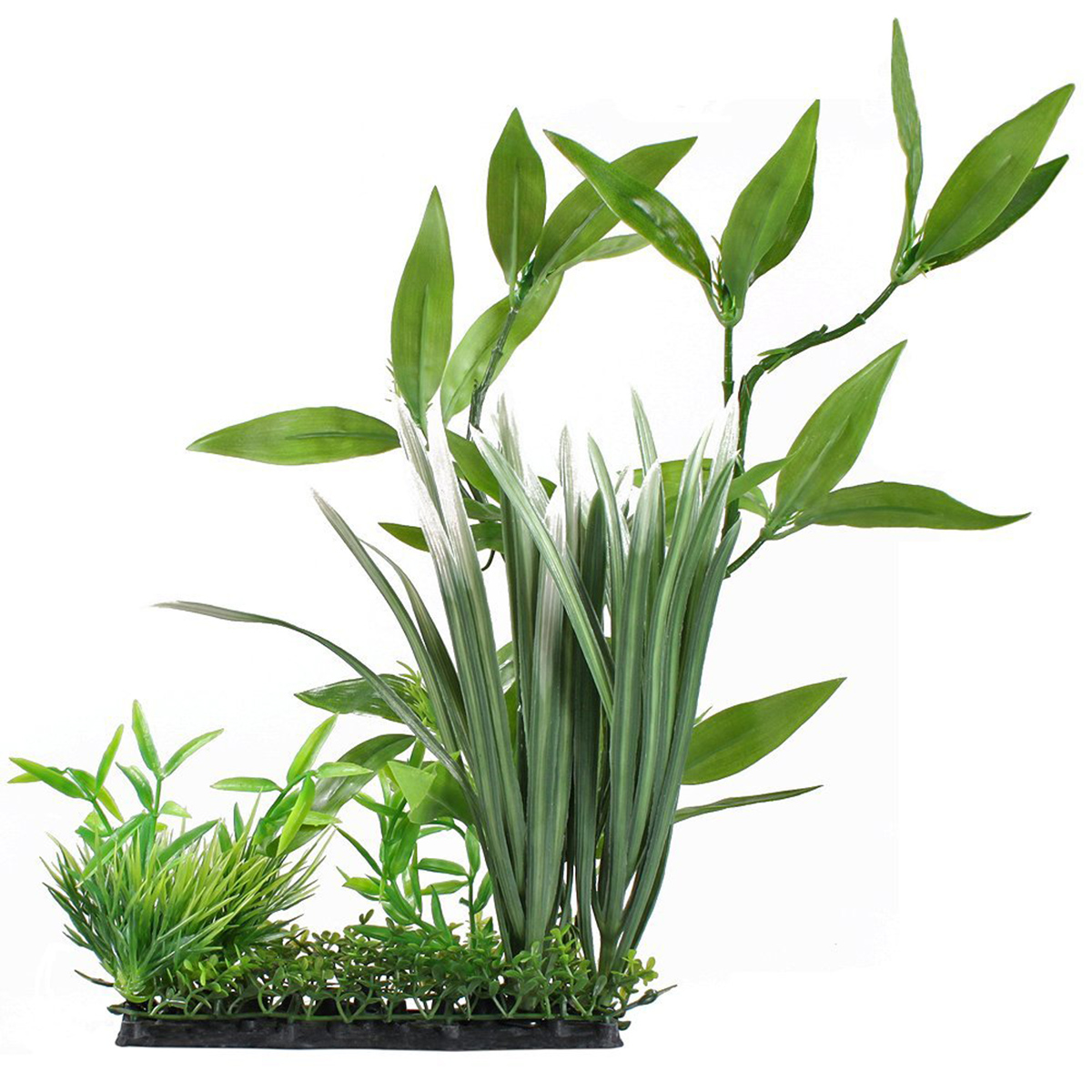 Aquarium Ornament Fish Tank Plastic Underwater Plant Green Grass Leaves For Home Office Saltwater Freshwater Tropical(China (Mainland))