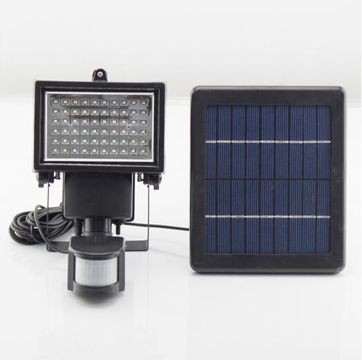 Solar Street Lamp 60led Pir Motion Sensor Lights Solar Powered Outdoor Emergency Lighting Spot