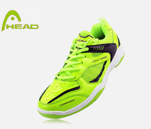 HEAD 100% ORIGINAL COOL FLUORESCENCE GREEN SNEAKER ANTISLIP MALE/FEMALE BADMINTON SPORTS SHOES TENNIS SHOES .FREE SHIPPING(China (Mainland))