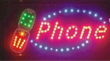 2016 New 10X19 Inch Graphics Animated motion Running phone shop Led neon open sign(China (Mainland))