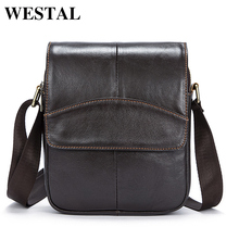 Buy WESTAL Casual Messenger Bag Leather Men Shoulder Crossbody Bags Man Genuine Leather Men Bag Small Flap Male Bags Bolsa New for $26.78 in AliExpress store