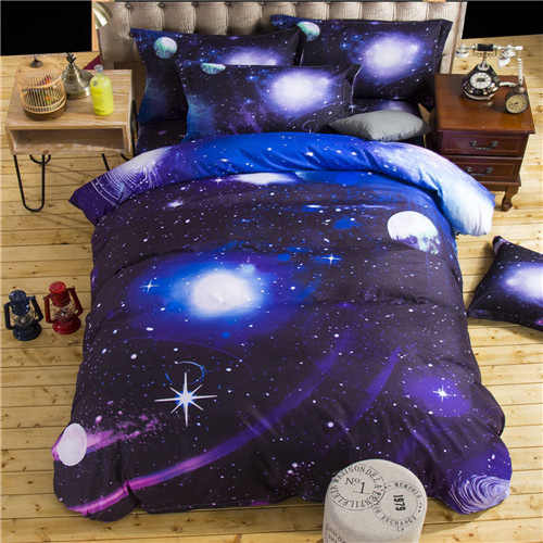 Galaxy Bedding Sets 7 patterns Twin//Queen Size Bedclothes Bed Linen Printing Bed Sheet Duvet Cover Set(China (Mainland))