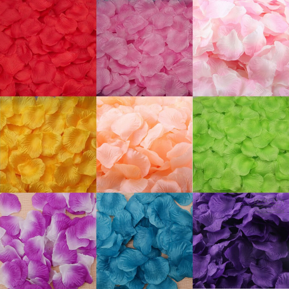 1000pcs Silk Rose Petals Artificial Flower Petals Wedding Party Anniversary Decoration Event Party Supplies(China (Mainland))