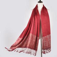 YI LIAN Brand New Arrival Women Cotton Scarf Fringe Ends Designer Scarves Fashion Flower Pashmina Shawl 190*70cm JB012(China)