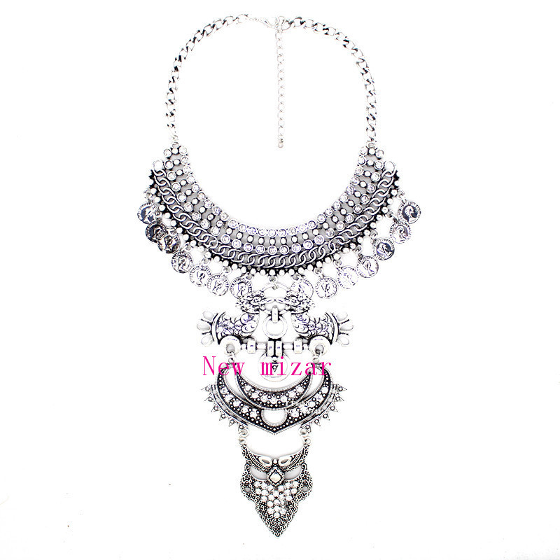 2015 New wholesale Not sale big long chain necklace metal chain chunky fashion statement Necklace(China (Mainland))