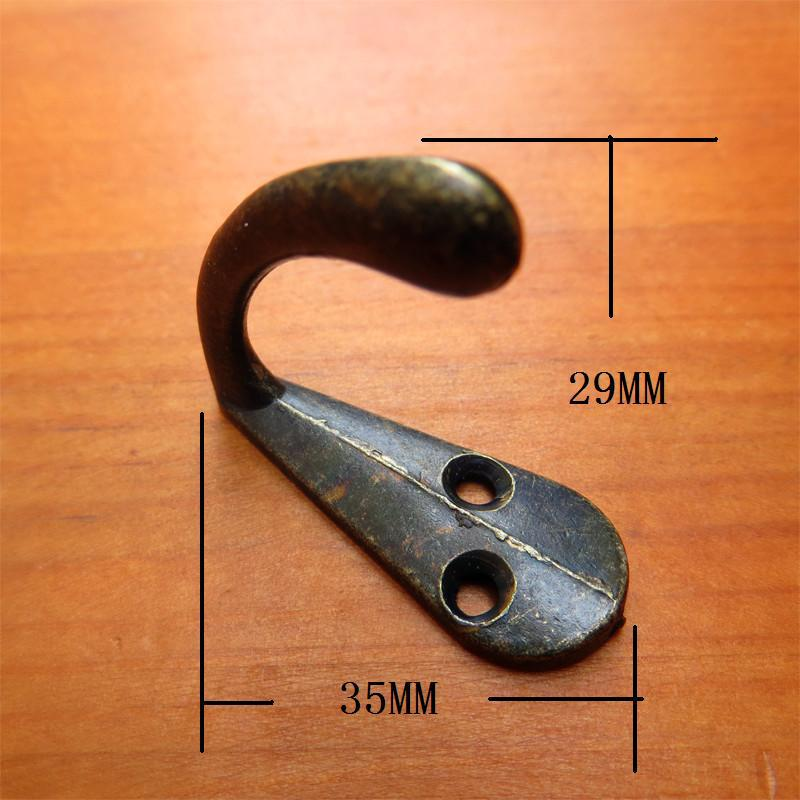 Hook Alloy Antique furniture wardrobe hook single hook thin thin small hook up and down hole(China (Mainland))