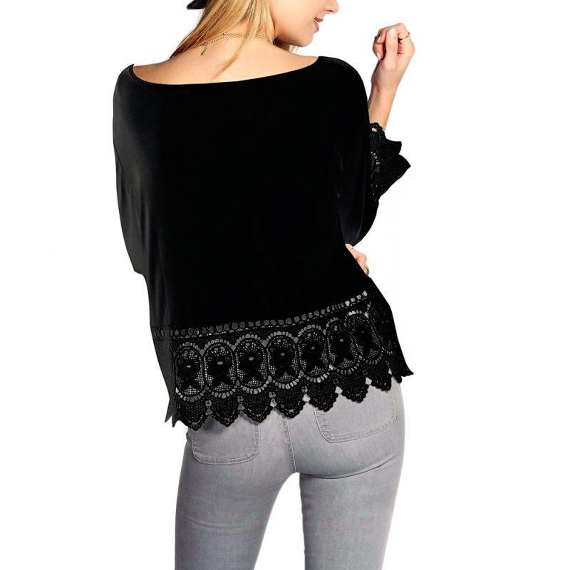 Women Loose Cozy Knitwear Hollow Crocheted T Shirt Tee Lady Boho Long Sleeve TopsPoleras De Mujer