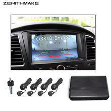 Free Shipping Dual Core Visual Car Video Parking Sensor Reverse Backup Radar Digital Display & Step-up Alarm for DVD and TFT