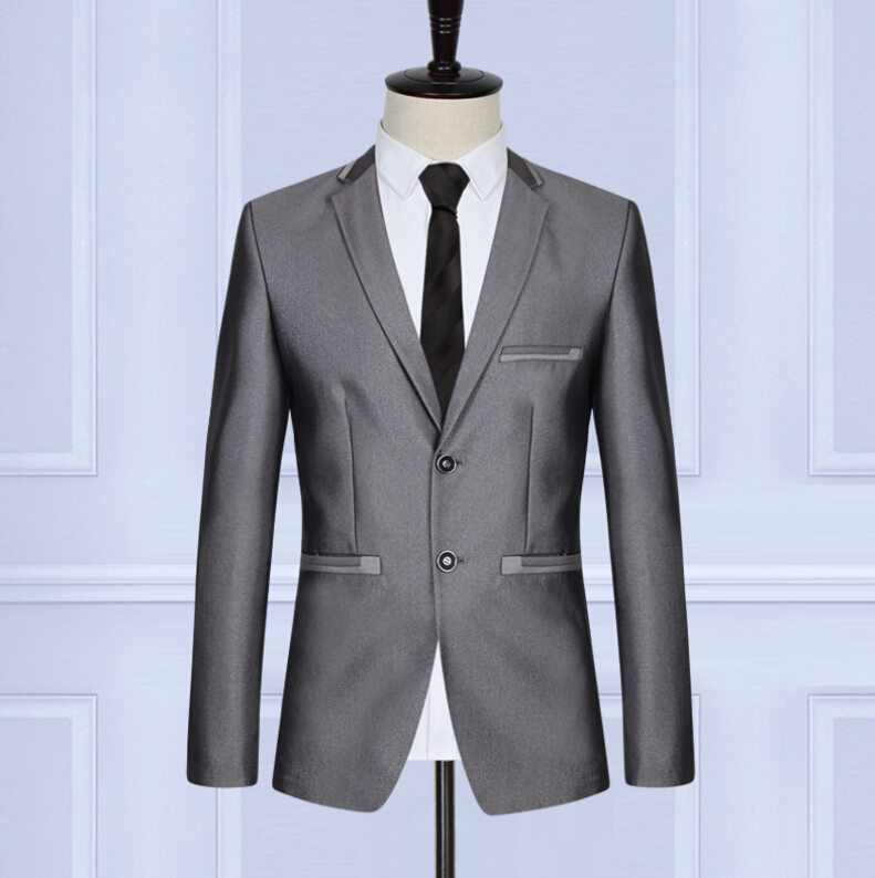 High qulity  suits fashion contracted pure color mens business professional suit two-piece suits(jacket+pants+tie)Îäåæäà è àêñåññóàðû<br><br>