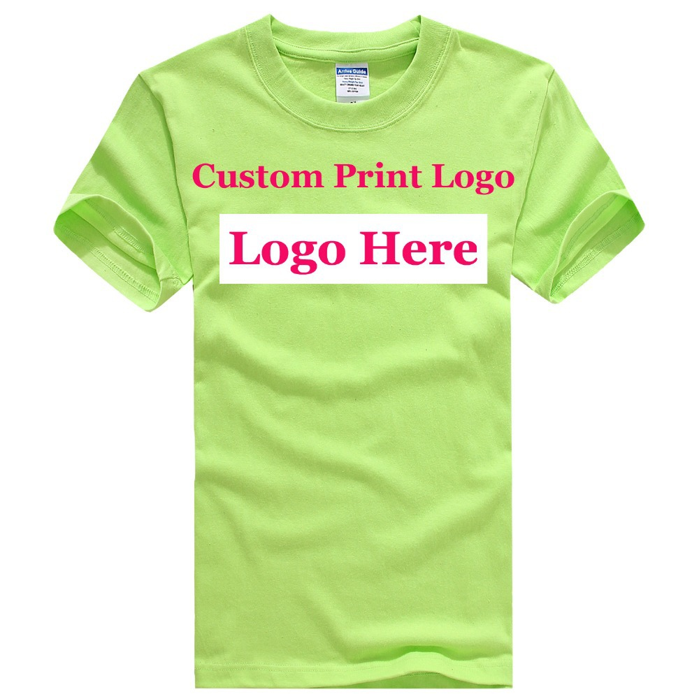 Promotion custom t shirts embroidery o neck 100 cotton for Custom t shirts and embroidery